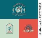 geronimo  the native american ...   Shutterstock . vector #1509894053