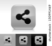 share icon set gray color...