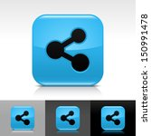 share icon set blue color...