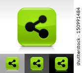 share icon set green color...