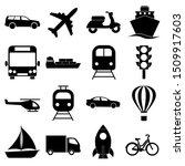 transport set icon  logo... | Shutterstock .eps vector #1509917603
