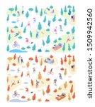 autumn and summer vector park... | Shutterstock .eps vector #1509942560