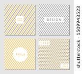 Yellow And Gray Modern Pattern...