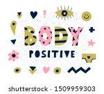 bright graphic body positive... | Shutterstock .eps vector #1509959303