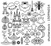 halloween icons isolated set... | Shutterstock .eps vector #150996014