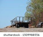 Empty Hay Bales Wagon Trailer...