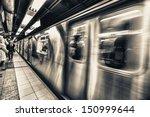 Stock photo new york subway 150999644