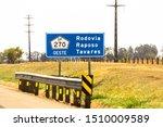 Signpost on SP 270 Raposo Tavares Highway in Presidente Venceslau City