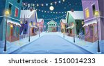 panorama road over the street... | Shutterstock .eps vector #1510014233