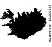 Iceland vector map - Free vector image in AI and EPS format.