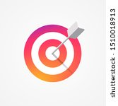 target icon colorful gradient...   Shutterstock .eps vector #1510018913