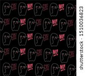 baby teeny ghost minimalist... | Shutterstock .eps vector #1510036823