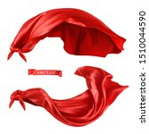 superhero  red cape. 3d... | Shutterstock .eps vector #1510044590