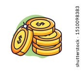 pile coins money dollars icons | Shutterstock .eps vector #1510098383