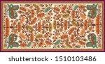 decorative mughal motif   stole ...   Shutterstock .eps vector #1510103486