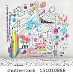 business colorful sketch image... | Shutterstock . vector #151010888