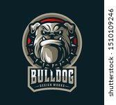bulldog angry logo mascot vector   Shutterstock .eps vector #1510109246