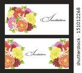 set of invitations | Shutterstock .eps vector #151012268