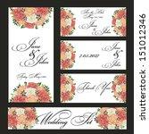 wedding set | Shutterstock .eps vector #151012346