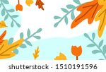 sea leaves floral pattern... | Shutterstock .eps vector #1510191596