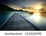 the beautiful wooden bridge... | Shutterstock . vector #151020290