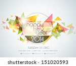 happy new year 2014 colorful... | Shutterstock .eps vector #151020593