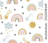 cute kids nursery rainbow... | Shutterstock .eps vector #1510248149