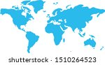 similar world map. minimalistic ... | Shutterstock .eps vector #1510264523