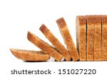 Sliced brown bread. - stock photo