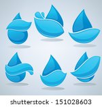set of water design elements ...