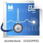 technical measure for ecg...   Shutterstock .eps vector #151029953
