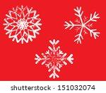 grunge snowflake | Shutterstock .eps vector #151032074