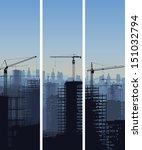vector vertical banner of...   Shutterstock .eps vector #151032794