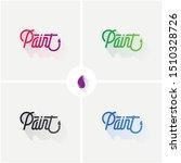 paint logo vector brush logo   Shutterstock .eps vector #1510328726