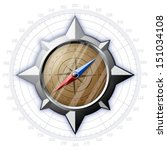 steel compass with scale... | Shutterstock .eps vector #151034108