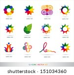 icons set vector | Shutterstock .eps vector #151034360