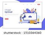 image upload illustration web... | Shutterstock .eps vector #1510364360