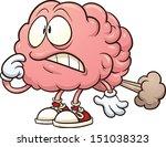 cartoon brain having a brain... | Shutterstock .eps vector #151038323