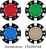 empty poker chips | Shutterstock .eps vector #151040768
