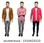 collage of handsome young...   Shutterstock . vector #1510423223