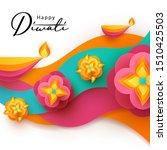 diwali hindu festival greeting... | Shutterstock .eps vector #1510425503