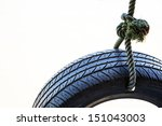 Tire Swing Isolated On A White...
