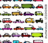 toy cars collection  seamless... | Shutterstock .eps vector #151043408