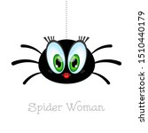 Cartoon Spider Woman With Big...