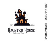 haunted house logo template...