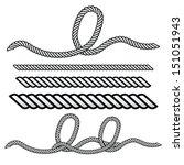 rope outline vector    Shutterstock .eps vector #151051943