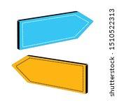set of isometric arrows. vector ... | Shutterstock .eps vector #1510522313
