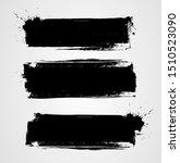 set of three black grunge...   Shutterstock .eps vector #1510523090