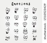 cartoon face emotion set.... | Shutterstock .eps vector #1510523429