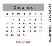 december 2020 planning calendar ... | Shutterstock .eps vector #1510535063